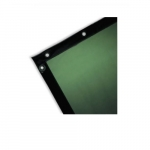 6-ft X 8-ft Welding Curtain, See-Through, Green
