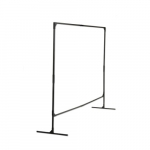 6x8-ft Steel Stur-D-Screen Frame, Black