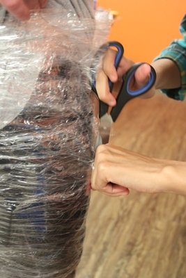 Cutting Cling Wrap and Tape