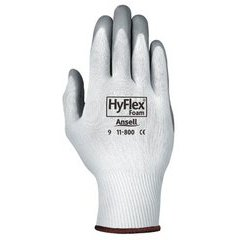 White/Gray HyFlex Foam Gloves Size 8