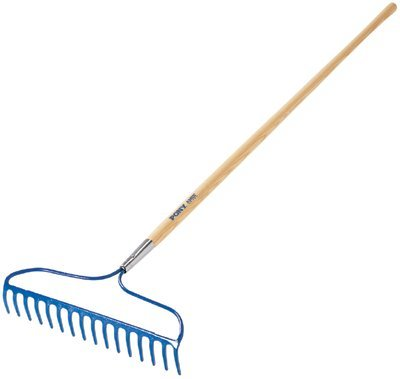 16 3/4'' White Ash Handle Garden Rake