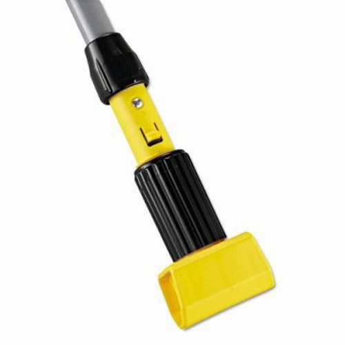 Yellow/Gray 60 in. Clamp Antimicrobial Hardwood Handles