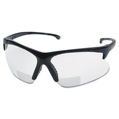 V60 30-06 Reader Safety Eyewear, Black Frame, Clear Lens