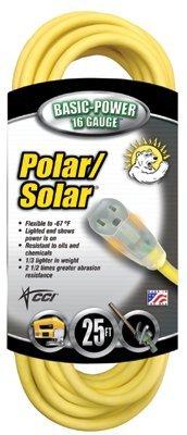 16/3 SJEOW Polar/Solar Extension Cord 25-ft