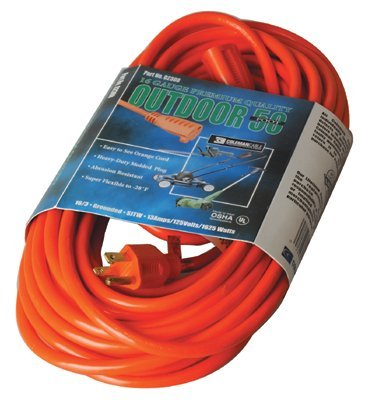 Vinyl Orange Extension cord 50-ft