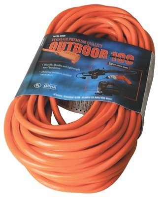 Vinyl Red Extension Cord 100-ft 300V