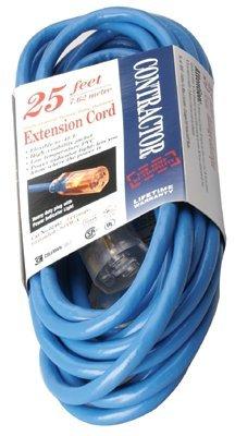 Vinyle Blue Extension Cord 25-ft