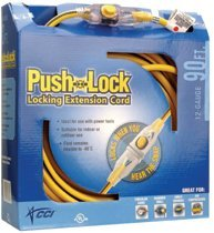Push Lock Extension Cords 100-ft