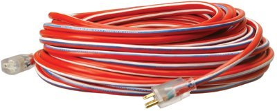 Red, White and Blue 100-ft Extension Cords with lighted ends
