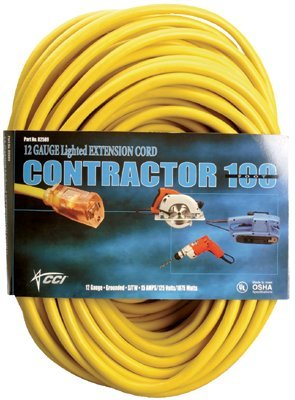 100 Foot Vinyl Extension Cord