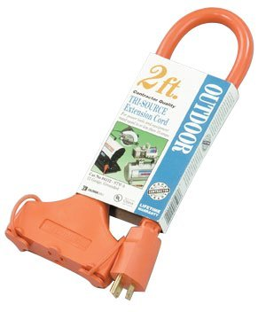 2 foot 1 5 Amp 125 V 3 Outlet Ground Adapater