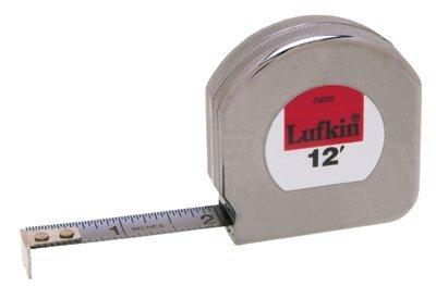 12' Chrome Plated Mezurall Pocket Measuring Tape