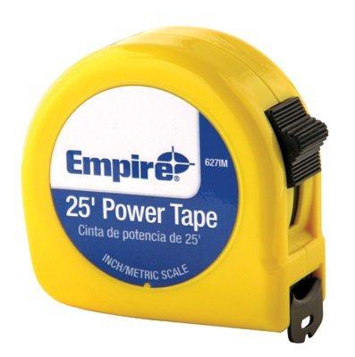 25' Single Side High Carbon Steel Power Tape w/Neon Orange
