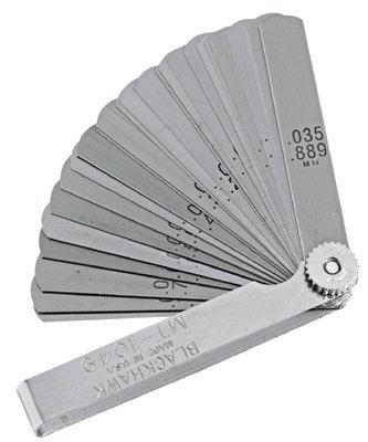 25 Piece Long Blade Feeler Gauge Set All Purpose