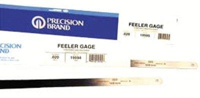 19k20 1//2x12 .020 feeler gauge Flat Length Steel Feeler Gauges Set of 12