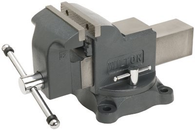 "8"" Hardened Steel Shop Vise w/ Swivel Base"