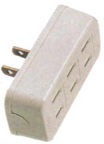 3-Way Outlet Plug Adapter, Beige
