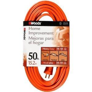50FT Outdoor Vinyl Extension Cord, Orange