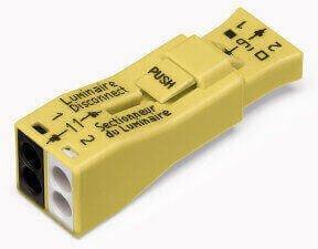 Luminaire 2-Port Lumi-Nut Pushwire Ballast Disconnect Connector