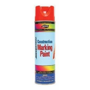 16 oz Fluorescent Orange Construction Marking Paint
