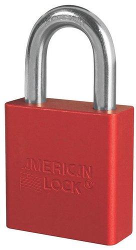 Red Solid Aluminum Padlock