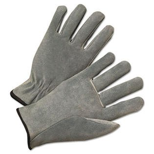 Large Pearl Gray Cowhide Leather Palm Gloves