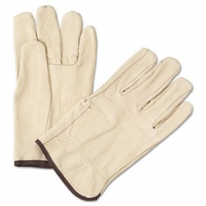 Large Leather Cowhide Straight Thumb Gloves