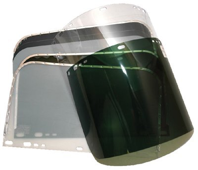 "9-3/4 X 19"" Dark Green Visor For Fibre Metal Unbound"