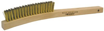 """1[3/8]"""" Nylon Wire Plater's Brush w/Wooden Handle"""