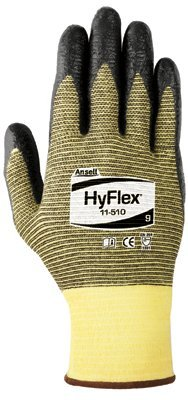 Size 8 Black HyFlex Light Cut Protection Gloves