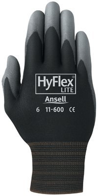 Size 7 Smooth Black/Gray HyFlex Lite Gloves