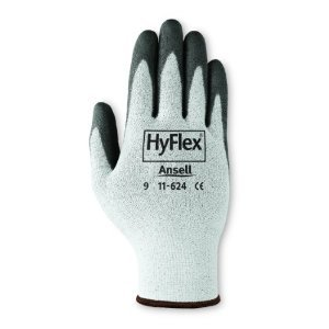 Large Black Cut Resistant Hyflex Polyurethane Gloves