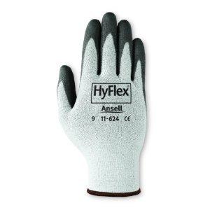 Large Black Cut Resistant Hyflex Polyurethane Gloves