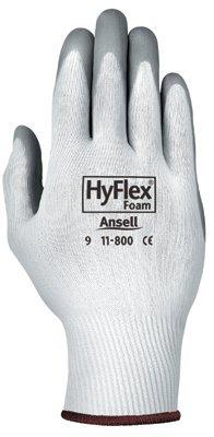Size 11 White/Gray HyFlex Foam Gloves