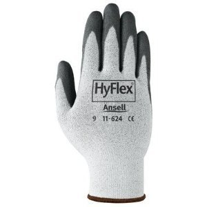 White/Gray HyFlex Foam Gloves Size 9