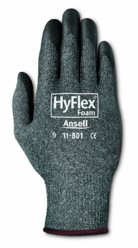 Hyflex Foam Ultra Lightweight Assembly Gloves, Size 10