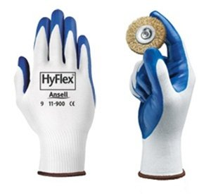 Size 10 Hyflex NBR Coated Gloves Blue/White