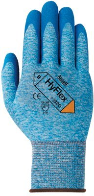 Size 9 Cotton Hyflex Oil Repellent Gloves