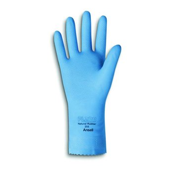 """20 Mil 12"""" Sky Blue Natural Rubber Latex Gloves"""