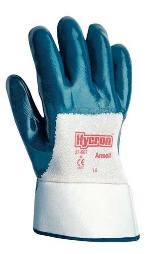 Size 10 Blue Nitrile Multipurpose Hycron Gloves