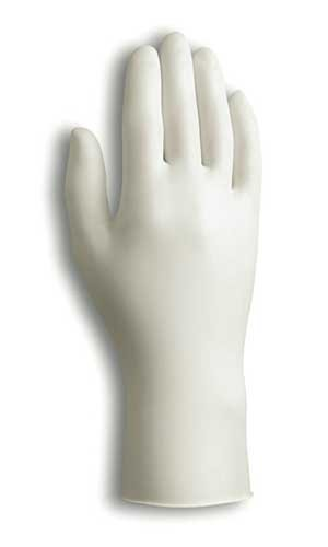 Large Dura Touch Lightly Powdered Clear Gloves