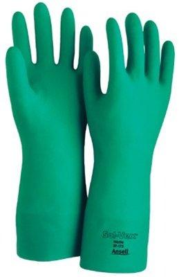 Green Sol-Vex Nitrile Gloves, Size 8