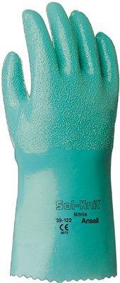 Size 9 Gauntlet Style Sol Knit Nitrile Gloves
