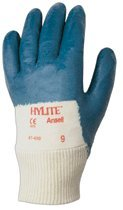 Size 9 Knit Wrist HyLite Palm Coated Gloves