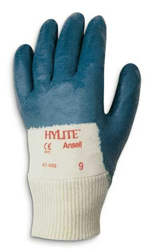 Size 9 Blue HyLite Palm Coated Gloves