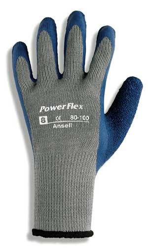 Size 9 Natural Rubber PowerFlex Gloves