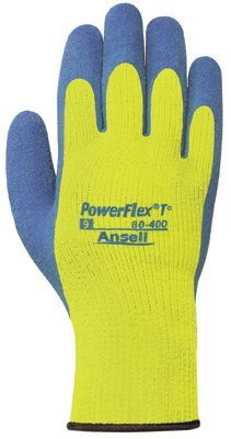 Size 10 PowerFlex T Hi Viz Yellow Gloves