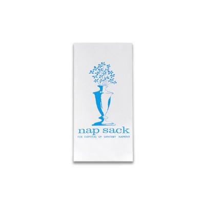 White, Nap Sack Sanitary Disposal Bags- 4 x 2 x 9