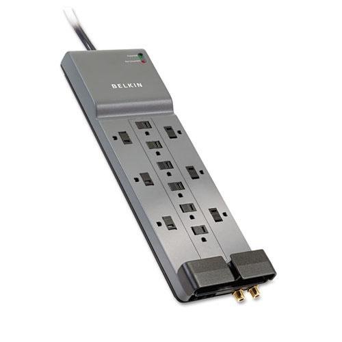 8 ft Belkin SurgeMaster 12-Outlet Surge Suppressor