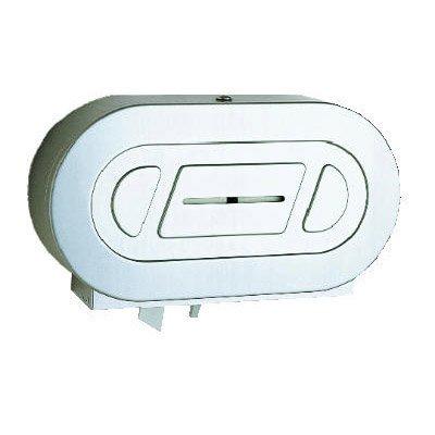 Stainless Steel Jumbo Toilet Tissue 2 Roll Dispenser-20.8 x 5.93 x 11.37